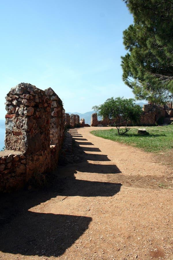 alanya城堡墙壁 免版税库存图片