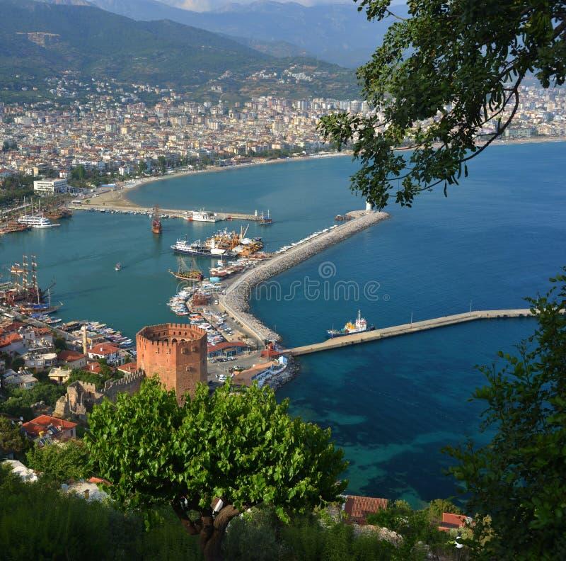 Alanya, die Türkei - Platz für Ferien stockfotografie