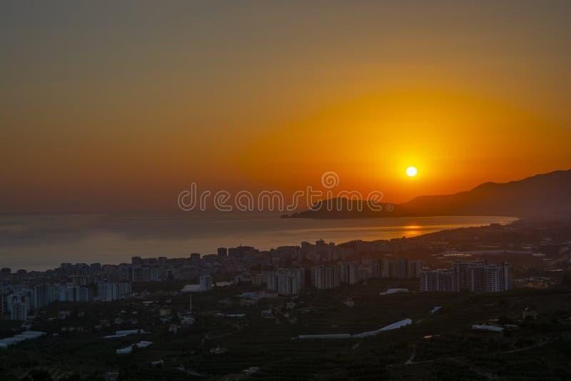 Alanya-Stadtpanorama stockbilder