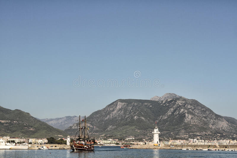 Download Alanya, Turkey stock image. Image of harbor, mountain - 26446939