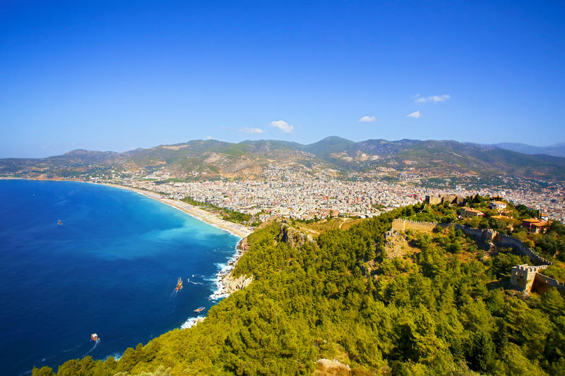 Download Alanya, Turkey stock image. Image of port, asia, over - 52288643