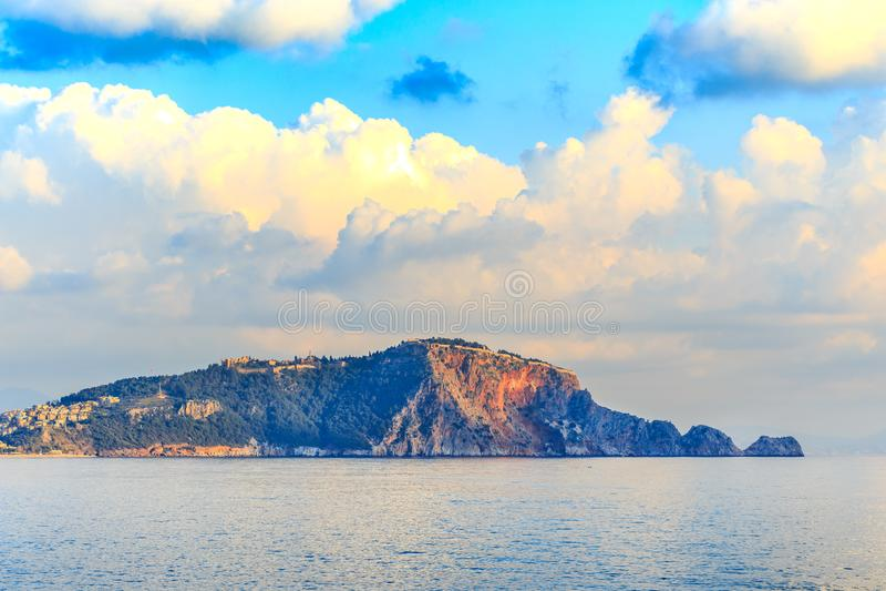 Alanyas Castle Rock 图库摄影