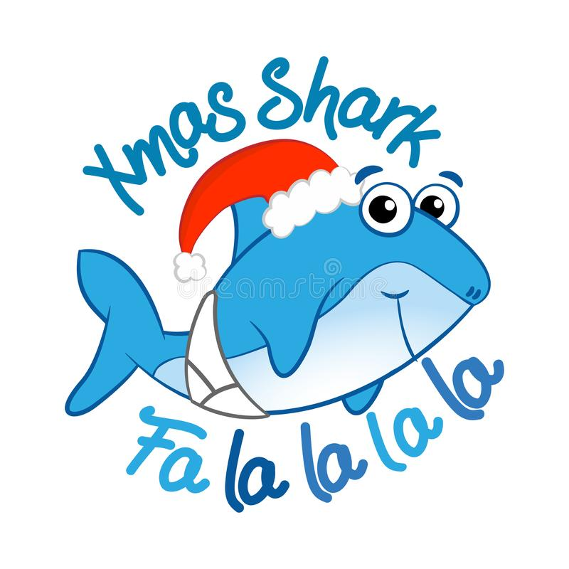 Xmas Shark - T-Shirts, Hoodie, Tank, gifts. vector illustration