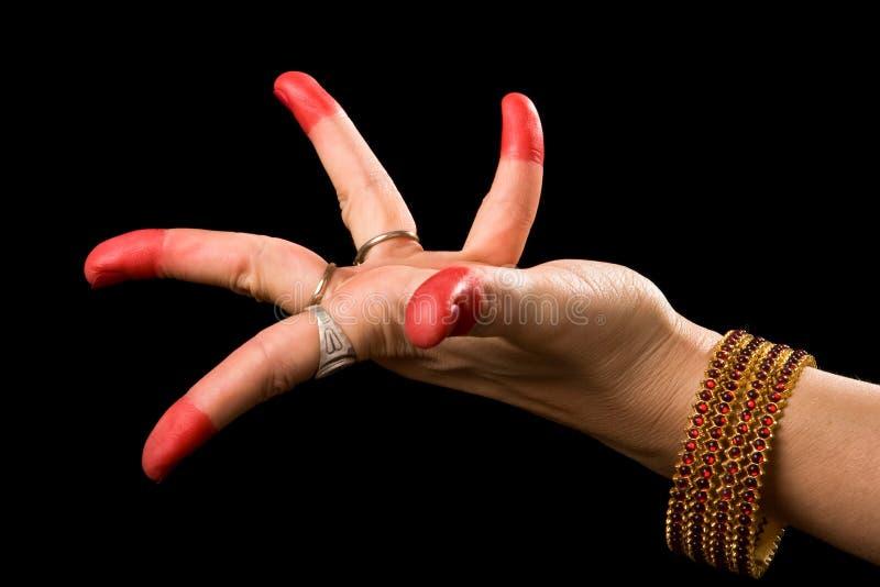 Alapadma hasta des indischen Tanzes Bharata Natyam stockfoto