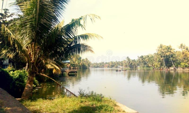 Alappuzha jeziora widok zdjęcia royalty free