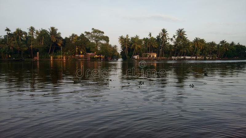 Alapuzha achterwater royalty-vrije stock foto's