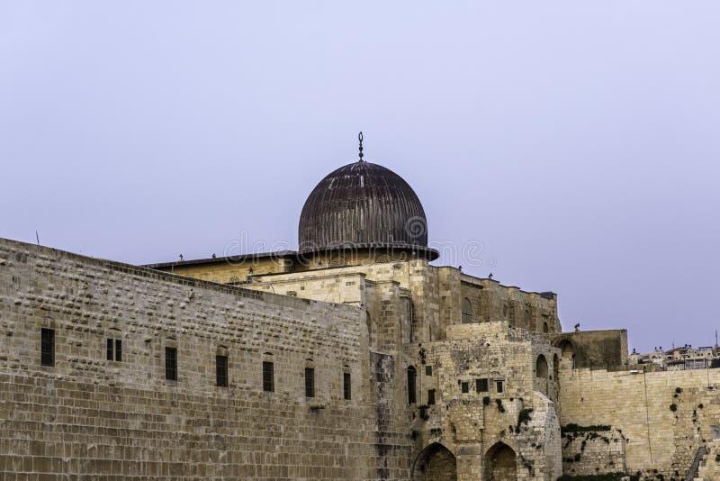 Alaqsa mousque的圆顶在耶路撒冷,以色列 库存照片