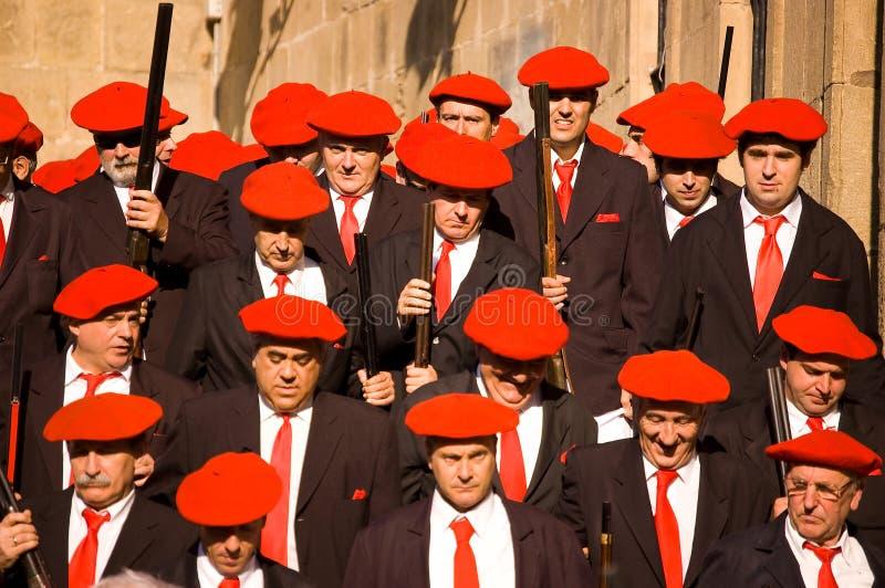 Download Alarde Van San Marcial In Iru'n Guipuzcoa, Spanje Redactionele Foto - Afbeelding bestaande uit typisch, rood: 54086136