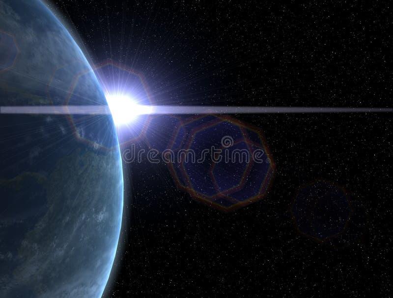 Alargamento da lente de Sun ilustração royalty free