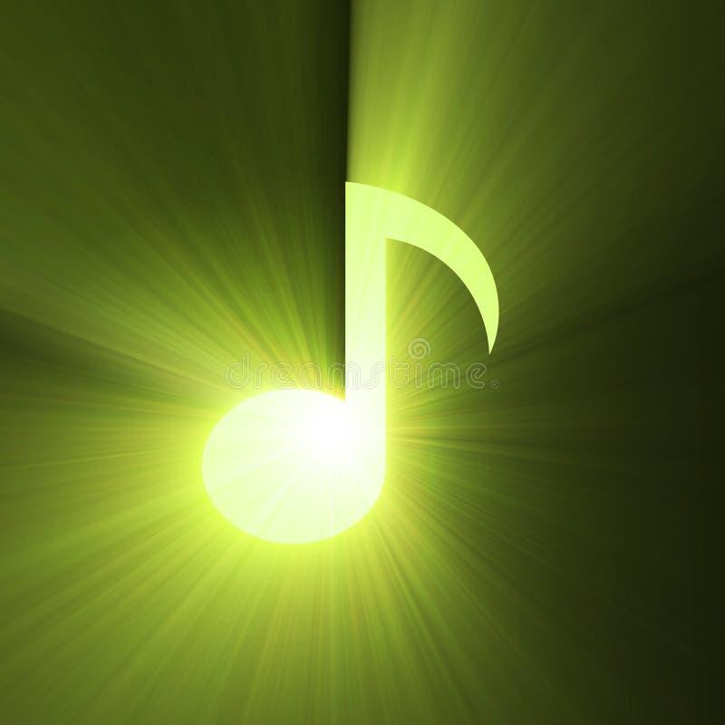 Alargamento da luz do sinal da nota musical ilustração stock