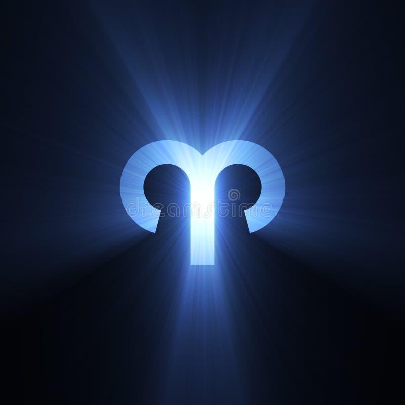 Alargamento do Aries do símbolo da astrologia ilustração stock