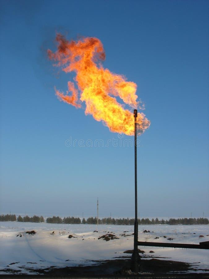 Alargamento do gás. foto de stock