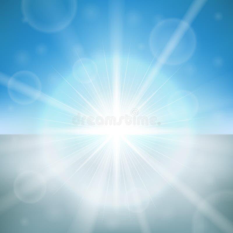Alargamento do sol do inverno ilustração stock