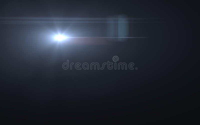 Alargamento e raios naturais da lente do projeto abstrato ilustração royalty free