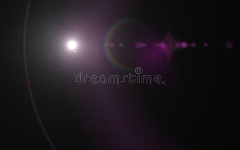 Alargamento e raios naturais da lente do projeto abstrato ilustração do vetor