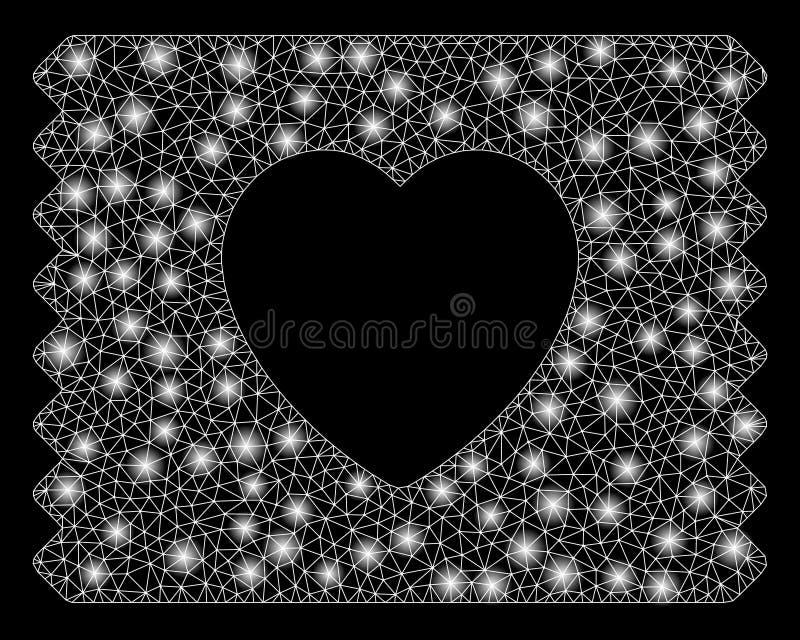 Alargamento Mesh Carcass Heart Condom Pack com pontos do alargamento ilustração stock