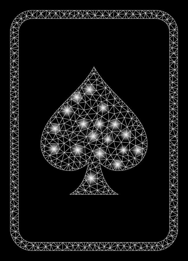 Alargamento Mesh Carcass Spades Gambling Card com pontos do alargamento ilustração royalty free