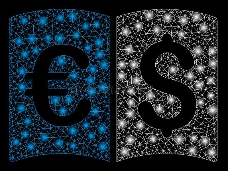 Alargamento Mesh Network International Catalog com pontos do alargamento ilustração stock