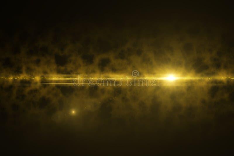 Alargamento natural da lente do projeto do sumário no espaço com textura Irradia o fundo alargamento digital da lente no preto ilustração royalty free