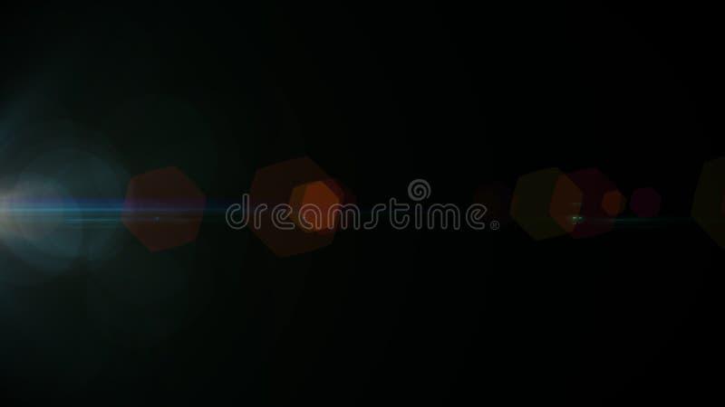 Alargamento real da lente disparado no est?dio sobre o fundo preto F?cil adicionar como fotos do filtro da folha de prova ou de t imagem de stock