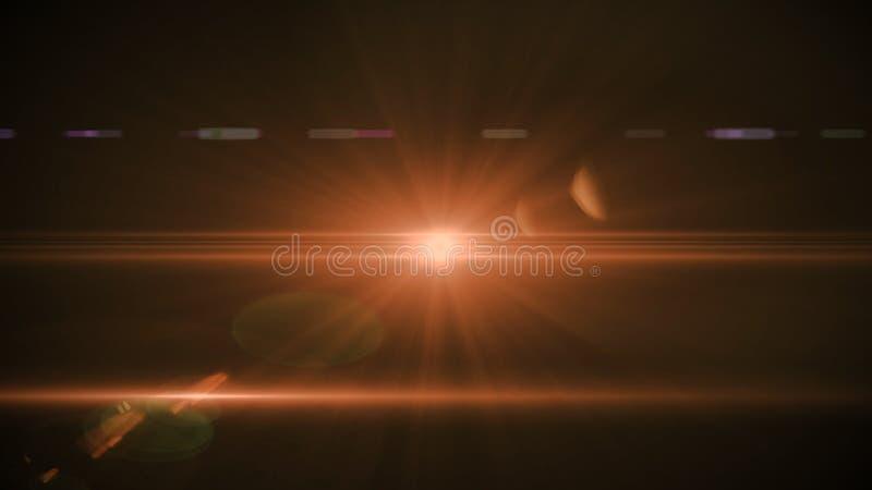 Alargamento real da lente disparado no est?dio sobre o fundo preto F?cil adicionar como fotos do filtro da folha de prova ou de t imagens de stock