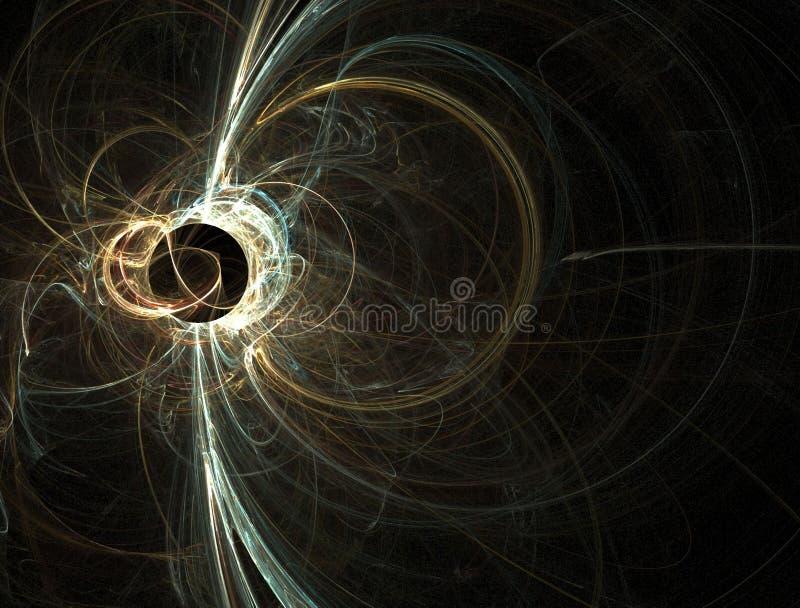 Alargamento solar do buraco negro do azul e do ouro ilustração do vetor
