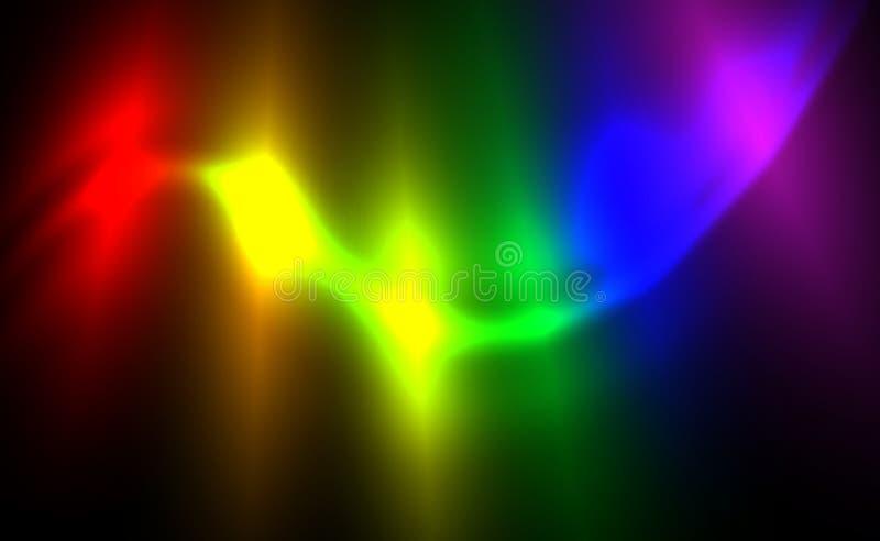 Alargamentos borrados abstratos de incandescência do fundo da bandeira de LGBT, oscilando a ilustração escura Projeto bissexual,  ilustração royalty free