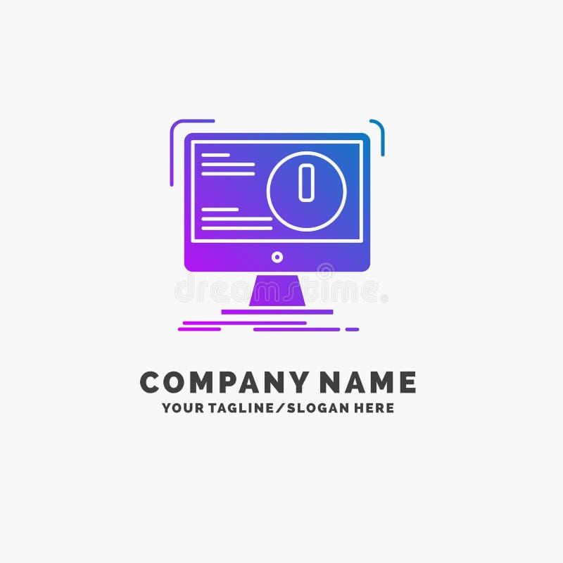 Alarm, Antivirus, Angriff, Computer, Virus purpurrotes Geschäft Logo Template Platz f?r Tagline lizenzfreie abbildung
