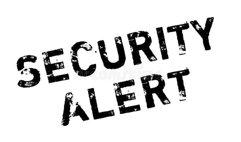 Alarm Bezpieczeństwa pieczątka ilustracja wektor