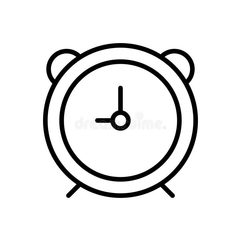 Alarm clock icon royalty free illustration