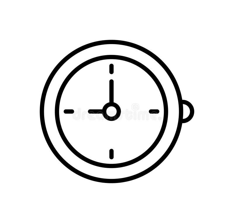 Alarm clock icon stock illustration
