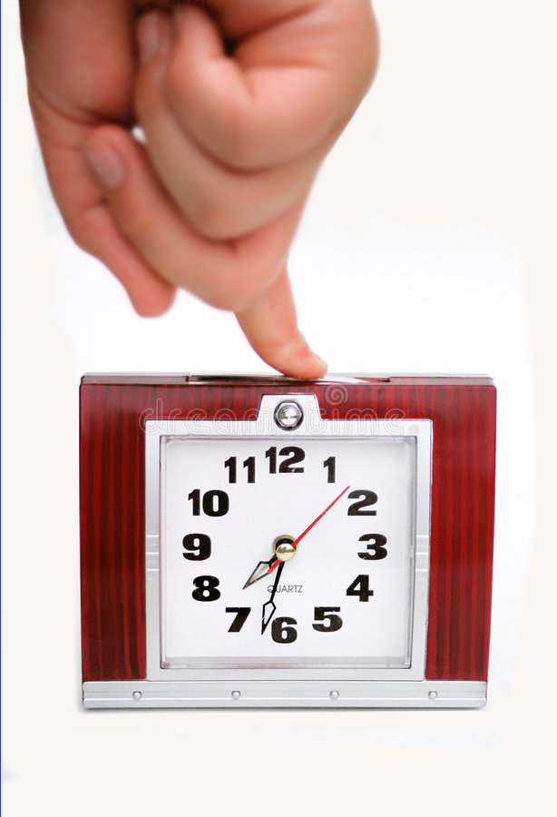 timer set with five minutes stock photo
