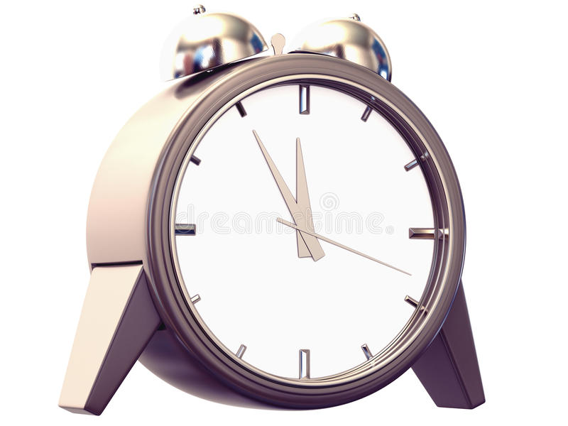 Download Alarm clock stock illustration. Image of time, chrome - 23586050