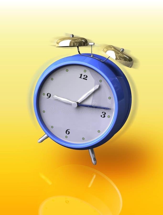 Alarm clock. Old metal alarm clock ringing. Digital illustration vector illustration