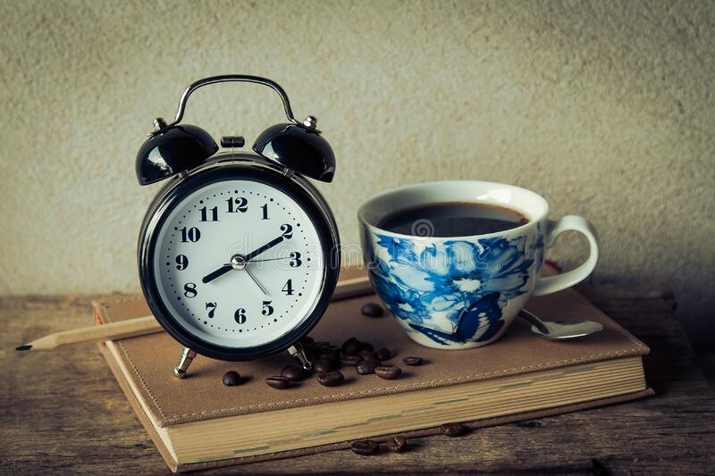 Alarm Clock With Coffee Cup Free Public Domain Cc0 Image