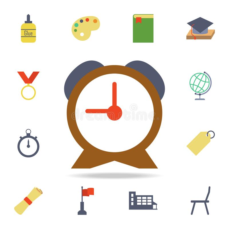 alarm clock colored icon. Detailed set of colored education icons. Premium graphic design. One of the collection icons for vector illustration