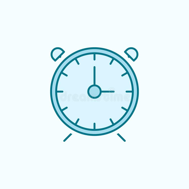alarm clock 2 colored line icon. Simple colored element illustration. alarm clock outline symbol design from web icons set on blue stock illustration