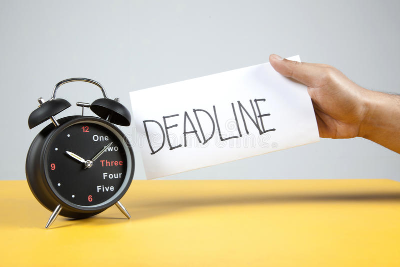 Alarm Clock and Deadline royalty free stock photography