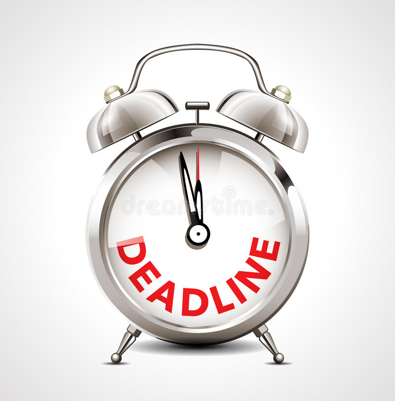 Alarm clock - deadline stock illustration