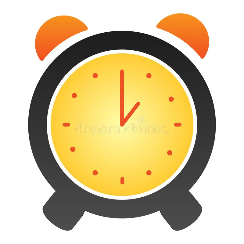 Alarm clock flat icon. Alert color icons in trendy flat style. Time gradient style design, designed for web and app. Eps vector illustration