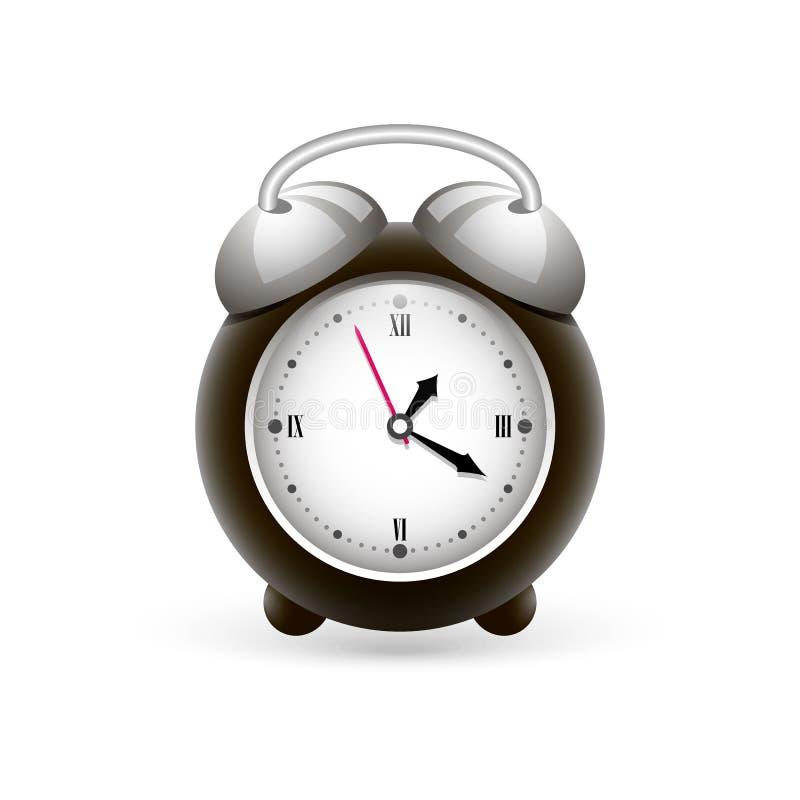 Alarm clock in gray colors royalty free illustration