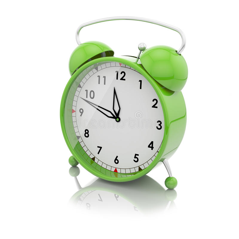 Download Alarm clock green stock illustration. Image of objects - 32355650