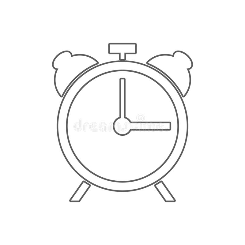 alarm clock icon. Element of Sport for mobile concept and web apps icon. Outline, thin line icon for website design and vector illustration