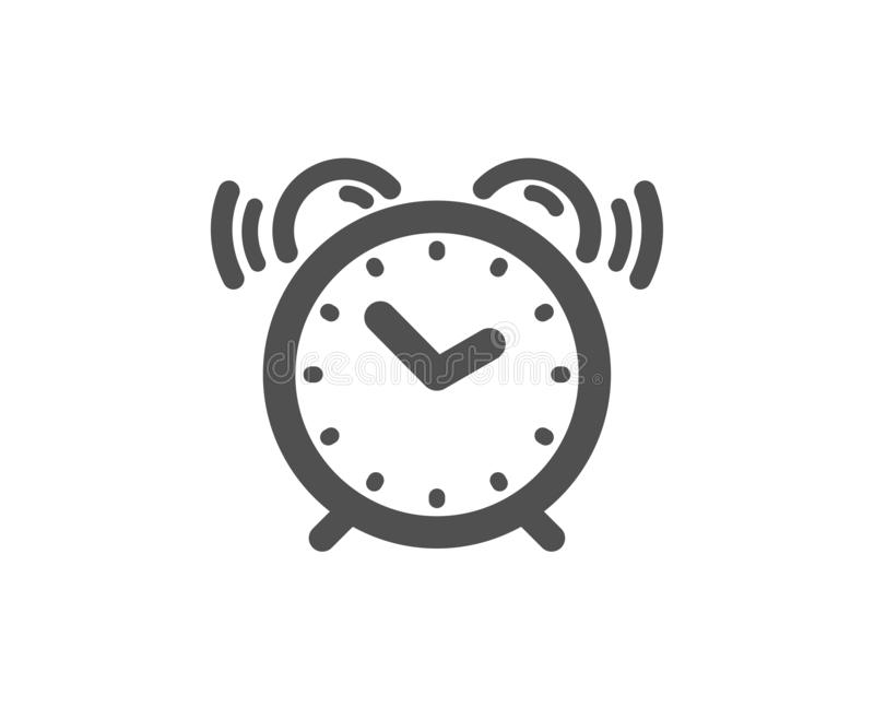 Alarm clock icon. Time sign. Watch. Vector. Time sign. Alarm clock icon. Watch symbol. Classic flat style. Simple alarm clock icon. Vector stock illustration