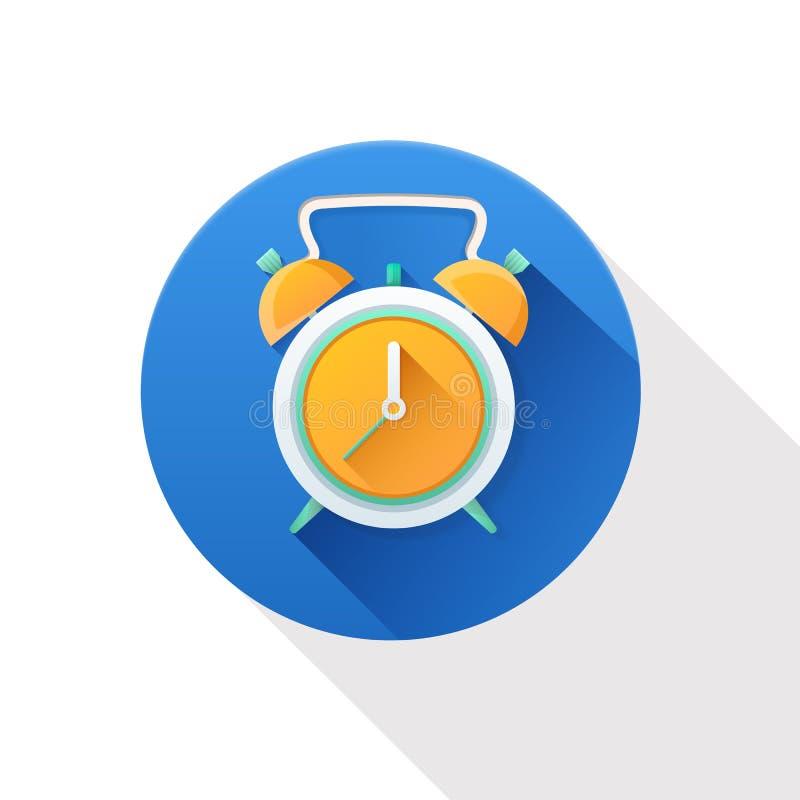 Alarm clock icon. On white background stock illustration