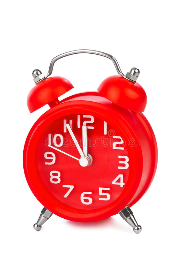 Alarm clock. Isolated on white background royalty free stock photography