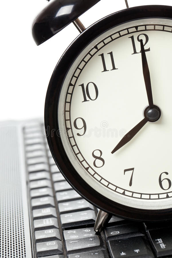 Download Alarm clock and laptop stock image. Image of alarm, clock - 14380483