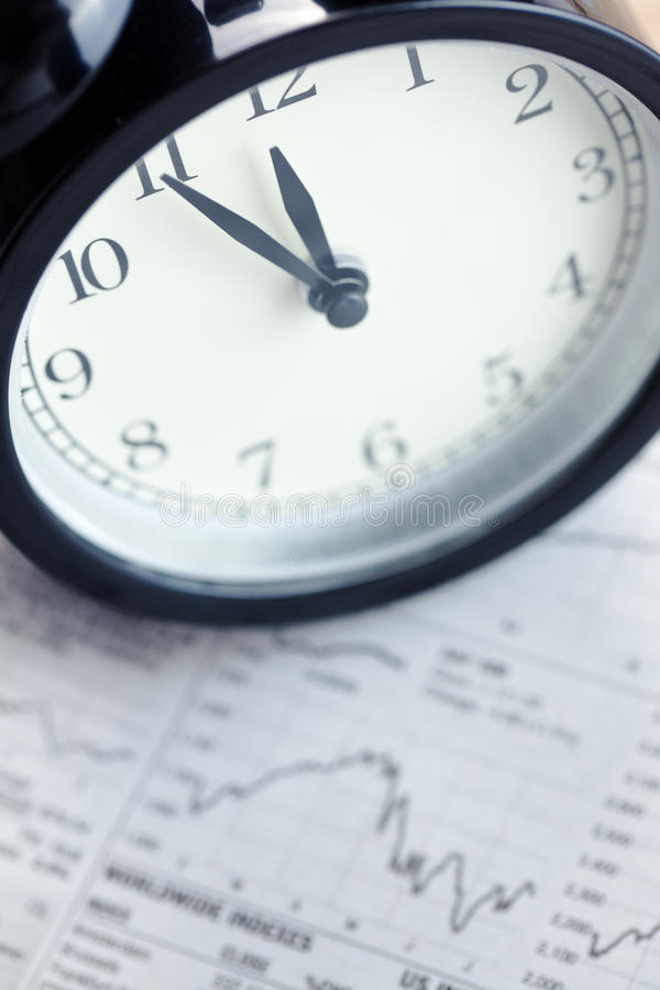 Free Alarm Clock On Financial Graph.last Moment Royalty Free Stock Photos - 15637648