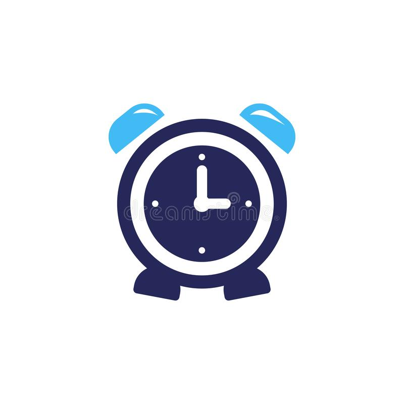 Alarm clock ringing icon modern design. Alarm clock wake-up time isolated on background in flat style. Vector illustration. Bell, alert, sound, symbol, button royalty free illustration