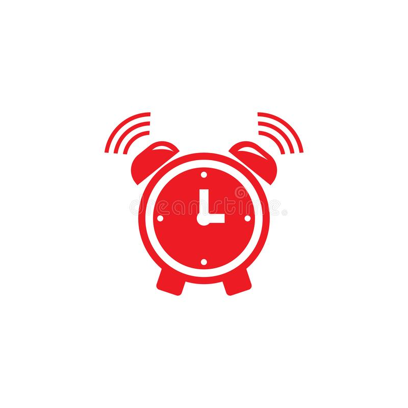 Alarm clock ringing icon modern design. Alarm clock wake-up time isolated on background in flat style. Vector illustration. Bell, alert, sound, symbol, button vector illustration